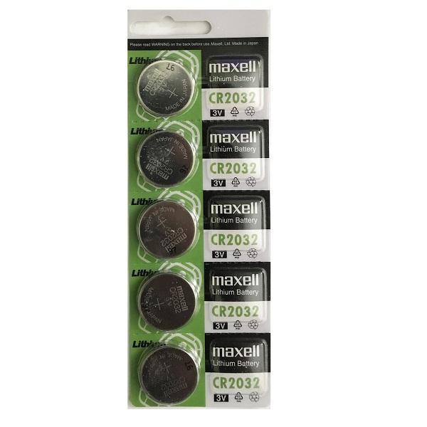 Maxell CR2032 Lithium Cell Button Battery (5 Pieces)