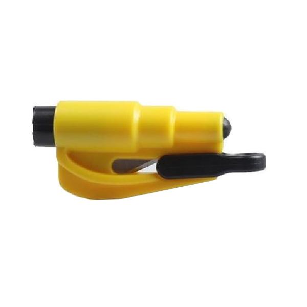 Mini Emergency Escape Rescue Hammer Vehicle Window Glass Breaker Tool (Yellow)