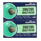 muRata 399/395 SR927SW SR57 SR927 Button Silver Oxide Battery (2 Pieces)