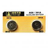 TIANQIU AG8 SR1120SW LR1121 LR55 191 GP91A 391 Button Alkaline Battery (2 Pieces)