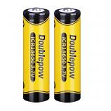 Doublepow 18650 1200mAh LSD Li-on Rechargeable Pointed Head Battery (2 Pieces)