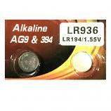 VSAI AG9 SR936SW LR936 LR45 394 Button Alkaline Battery (2 Pieces)