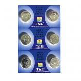 T&E AG13 SR44SW LR44 A7a6 GP76A 357 Button Alkaline Battery (6 Pieces)