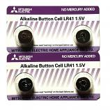 Mitsubishi LR41 AG3 SR41SW 192 GP92A 392 Alkaline Button Battery (4 Pieces)