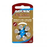RAYOVAC PEAK Size 675 Zinc Air Hearing Aid Battery (6 Pieces Per Card)