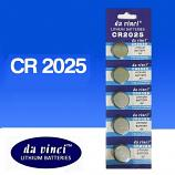 DaVinci CR2025 Lithium Cell Button Battery (5 Pieces)