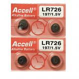 ACCELL AG2 SR726SW LR726 LR59 196 GP96A 396 Button Alkaline Battery (4 Pieces)