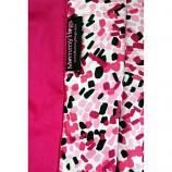MummyHugs Baby Sling Carrier Plush Cotton Pia Dark Pink with Abstract Borders