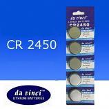 DaVinci CR2450 Lithium Cell Button Battery (5 Pieces)