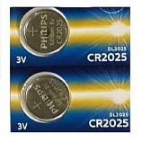 PHILIPS CR2025 Lithium Cell Button Battery (2 Pieces)