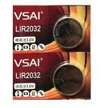 VSAI LIR2032 Rechargeable Lithium Cell Button Battery (2 Pieces)