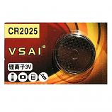 VSAI CR2025 Lithium Cell Button Battery (1 Piece)