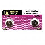 TIANQIU AG2 SR726SW LR726 LR59 196 GP96A 396 397 Button Alkaline Battery (2 Pieces)