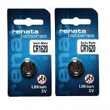 Renata CR1620 Lithium Cell Button Battery (2 Pieces)