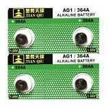 TIANQIU AG1 SR621SW LR621 364 Alkaline Button Battery (4 Pieces)