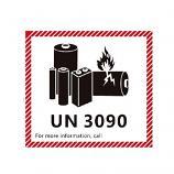 IATA DG Hazard Label Class 9 Lithium Battery with UN3090 12x11cm 50 Pieces