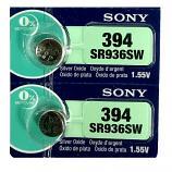 Sony 394 SR936SW AG9 SR45 SR936 1.55V Button Silver Oxide Battery (2 Pieces)