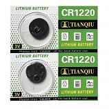 TIANQIU CR1220 Lithium Cell Button Battery (2 Pieces)