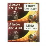 VSAI AG1 SR621SW LR621 364 Alkaline Button Battery (4 Pieces)