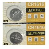 TIANQIU CR1616 Lithium Cell Button Battery (2 Pieces)