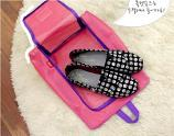 Funnymade Travel Shoe Mesh Pouch (Pink)