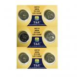 T&E AG10 SR1130SW LR1130 389 Button Alkaline Battery (6 Pieces)