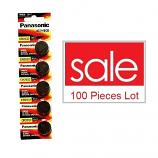 Panasonic CR2032 Lithium Cell Button Battery (100 Pieces)