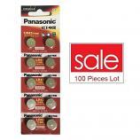 Panasonic LR43 AG12 SR43SW 186 GP86A 386 Alkaline Button Battery (100 Pieces)