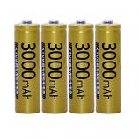 Doublepow KTV Microphone High Capacity 3000mAh Ni-MH Rechargeable AA Battery (4 Pieces)