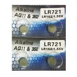 AG11 SR721SW LR721 LR58 162 GP62A 362 Button Alkaline Battery (4 Pieces)