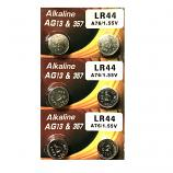 VSAI AG13 SR44SW LR44 A7a6 GP76A 357 Button Alkaline Battery (6 Pieces)