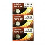 VSAI AG9 SR936SW LR936 LR45 394 Button Alkaline Battery (6 Pieces)