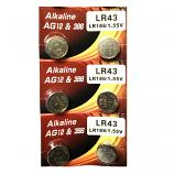 VSAI AG12 SR43SW LR43 386 Button Alkaline Battery (6 Pieces)