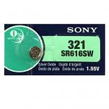 Sony 321 SR616SW  Button Silver Oxide Battery (1 Piece)