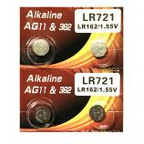 VSAI AG11 SR721SW LR721 LR58 162 GP62A 362 Button Alkaline Battery (4 Pieces)