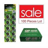 GP LR43 AG12 SR43SW 186 GP86A 386 Alkaline Button Battery (100 Pieces)