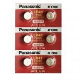 Panasonic LR41 AG3 SR41SW 192 GP92A 392 Alkaline Button Battery (6 Pieces)