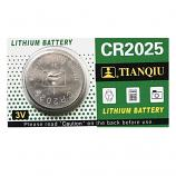 TIANQIU CR2025 Lithium Cell Button Battery (1 Piece)