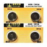 TIANQIU AG8 SR1120SW LR1121 LR55 191 GP91A 391 Button Alkaline Battery (4 Pieces)