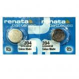 Renata 394 SR936SW AG9 SR45 SR936 Button Silver Oxide Battery (2 Piece)