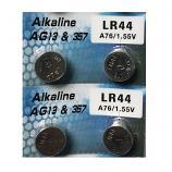 AG13 SR44SW LR44 A7a6 GP76A 357 Button Alkaline Battery (4 Pieces)