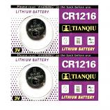 TIANQIU CR1216 Lithium Cell Button Battery (2 Pieces)