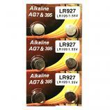 VSAI AG7 SR927SW LR926 LR57 195 GP95A 395 Button Alkaline Battery (6 Pieces)