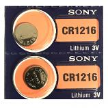 Sony CR1216 Lithium Cell Button Battery (2 Pieces)