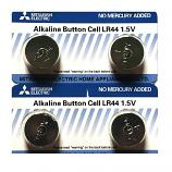Mitsubishi LR44 AG13 SR44SW 357 Button Alkaline Battery (4 Pieces)