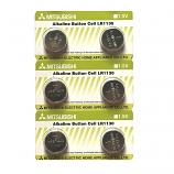 Mitsubishi LR1130 AG10 SR1130SW 189 GP89A 389 Alkaline Button Battery (6 Pieces)
