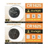 TIANQIU CR1625 Lithium Cell Button Battery (2 Pieces)