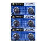 TIANQIU AG12 SR43SW LR43 186 GP86A 386 Button Alkaline Battery (6 Pieces)