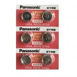 Panasonic LR1130 AG10 SR1130SW 189 GP89A 389 Alkaline Button Battery (6 Pieces)