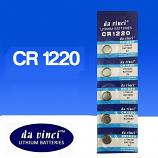 DaVinci CR1220 Lithium Cell Button Battery (5 Pieces)